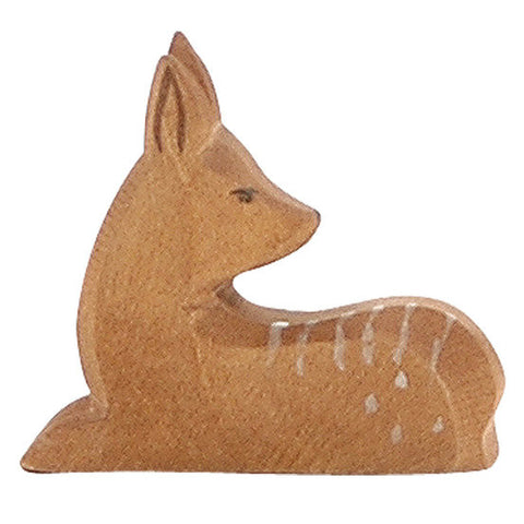 Lying Fawn Wooden Animal - August Lane