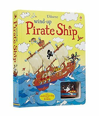 Usborne - Wind Up Pirate Ship Book - August Lane