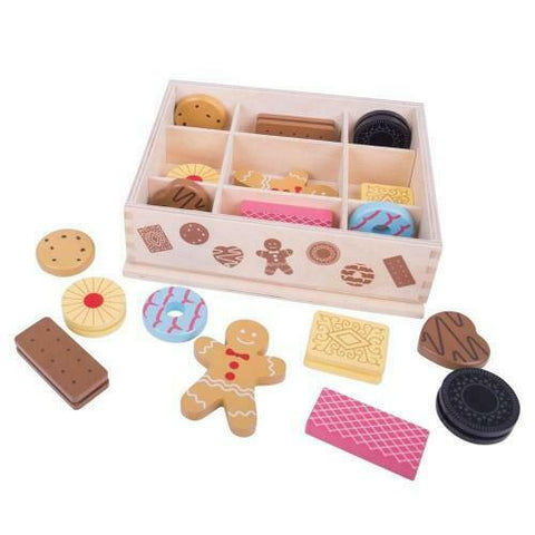 Bigjigs - Wooden Box Of Biscuits - August Lane