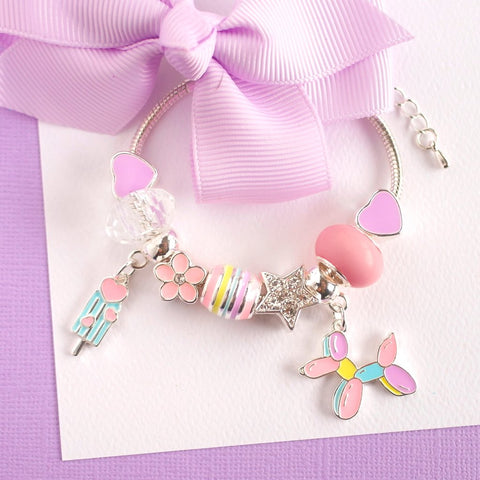 Lauren Hinkley - Balloon Sausage Dog Charm Bracelet - August Lane