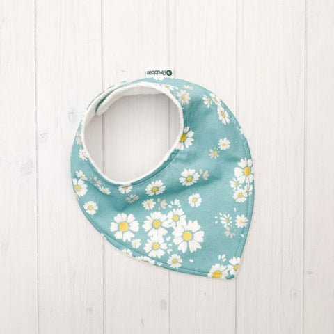 Grubbee - Teal Daisy Dribble Bib - August Lane