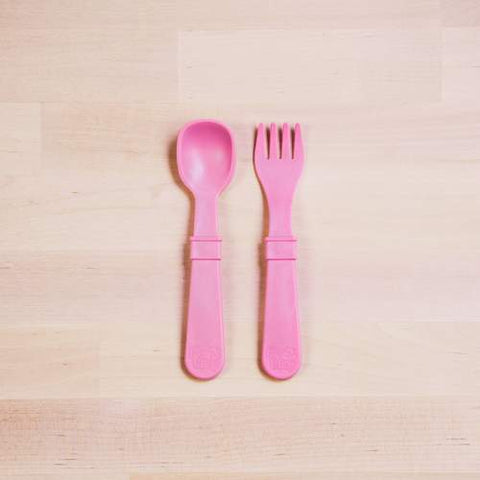 Re-Play - Fork & Spoon Set - Various Colours - August Lane