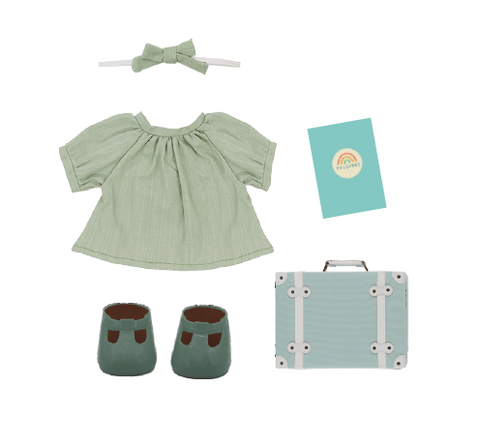 Olli Ella - Dinkum Dolls Travel Togs - Mint - August Lane