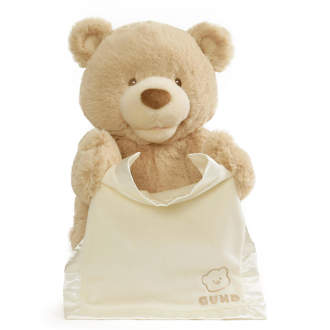 Gund- Animated Peek A Boo Bear - August Lane