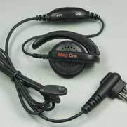 PMLN4443 Motorola Ear Receiver with In-Line Microphone, 2-pin connector.
