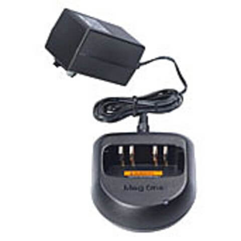 PMLN4738 Motorola charger features six-hour charge rate, includes transformer. BPR40 radios.