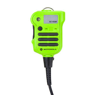 PMMN4106 Motorola APX XE500 Extreme Remote Speaker Microphone, Channel Knob. High Impact Green. Heat Resistant.