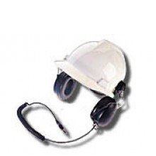 RMN4054 Motorola Peltor receive-only hard hat style headset designed for use with remote speaker microphones