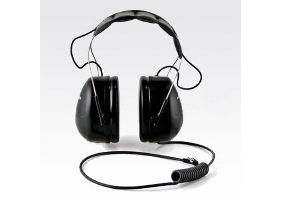 RMN4055 Motorola Peltor receive-only over-the-head headset designed for use with remote speaker microphones