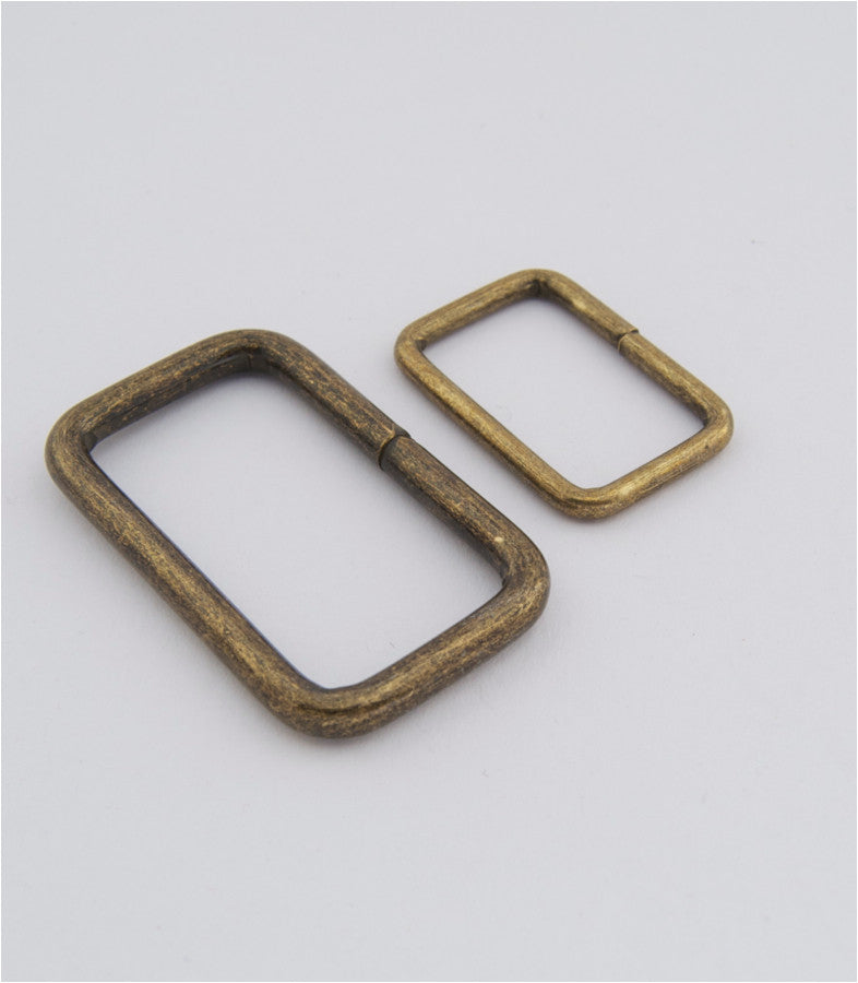 Rectangle Ring, 2 sizes, Antique Brass