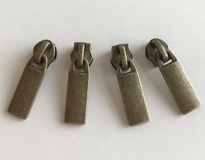 Antique Brass No. 5 Zip Pulls