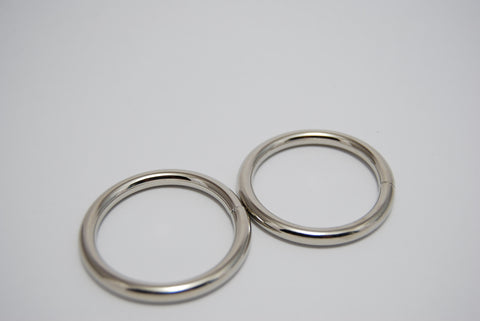 "11/2"" O Rings, 5mm thick, Silver"