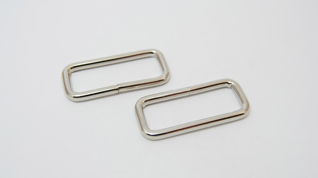 "11/2"" Wire Formed Silver Rectangle Rings"