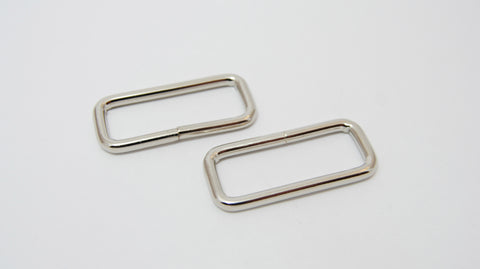 "1"" Wire Formed Silver Rectangle Rings"
