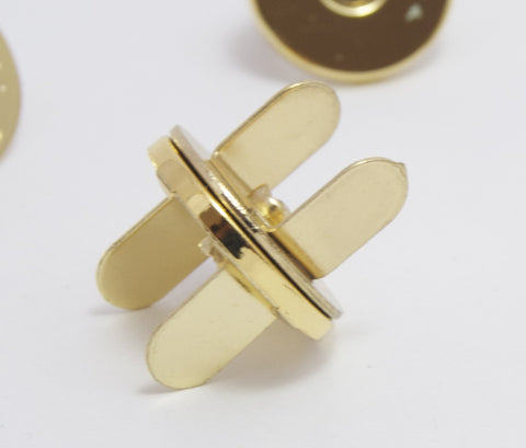 Gold 18mm Thin Magnetic Snaps