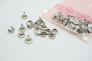 9mm x 8mm Double Cap Rivets - 4 colours