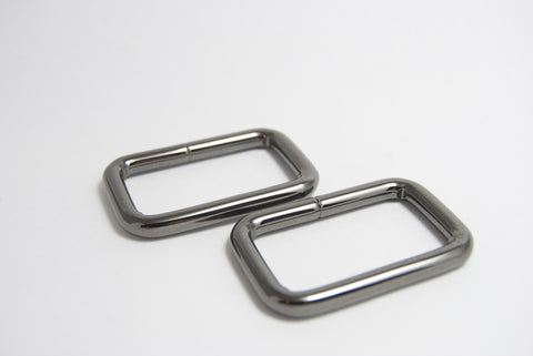 "1 1/2"" Wire Formed Rectangle Rings in Gun Metal"