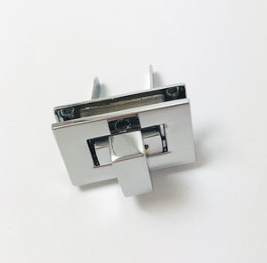 Chrome Rectangle Twist Lock