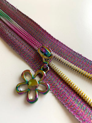 Flower Rainbow No. 5 Zip Pulls