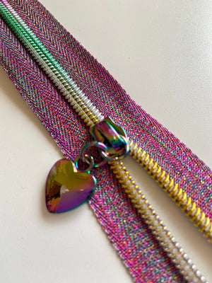 Heart Shape Rainbow No. 5 Zip Pulls