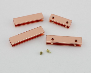 Rose Gold Strap End Covers - Two Sizes