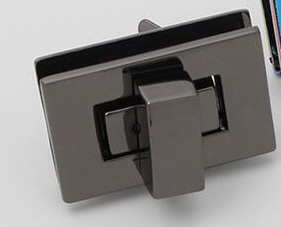 Gun Metal Rectangle Twist Lock