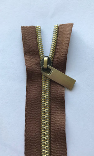 No.5 Metallic Look Nylon Teeth Zippers, 3 yard pack