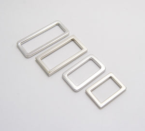 Rectangle Rings, 4 sizes, Silver