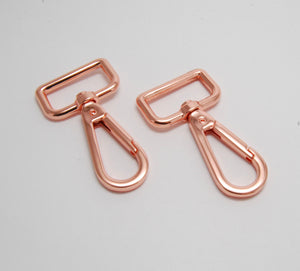 "1"" Snap Hooks in Rose Gold"