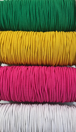 3mm Cord Elastic, 4 Colours