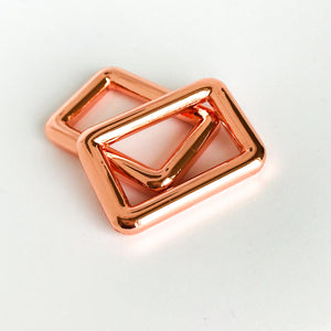 "1"" Rose Gold Rectangle Rings"