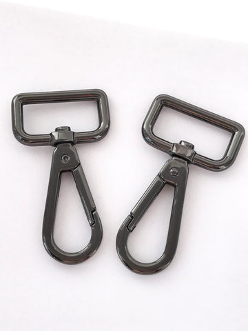 "1"" Snap Hooks in Gun Metal"