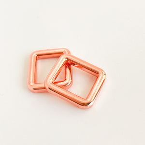16mm Rose Gold Rectangle Rings