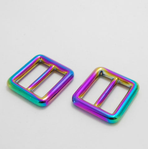 "Iridescent Rainbow 3/4"" Slider Buckle"