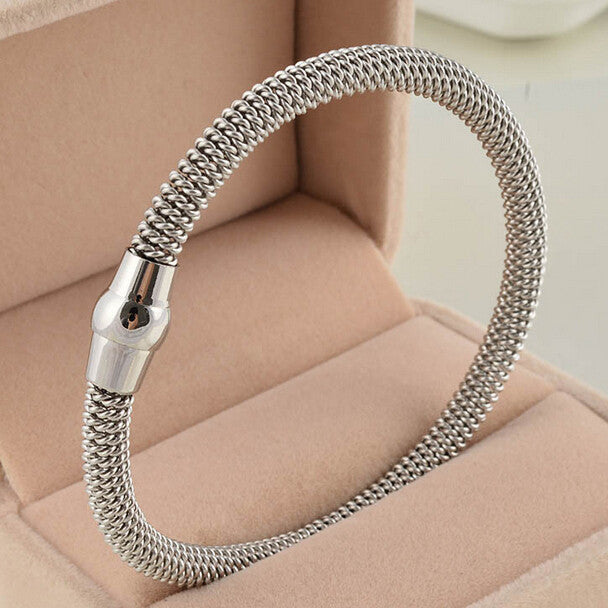 Stainless Steel Twisted Cable Bangle
