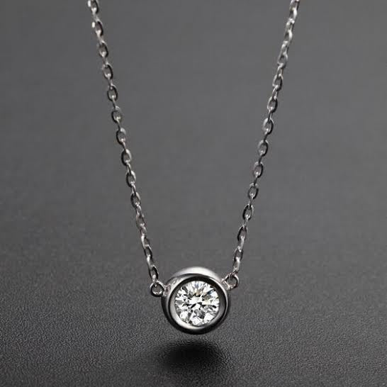 Circular Diamanté Necklace