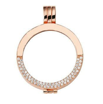 Rose Gold Plated & Half Diamanté Coin Holder