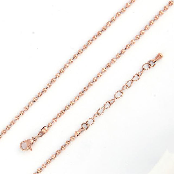Rose Gold Plated Bauble Chain