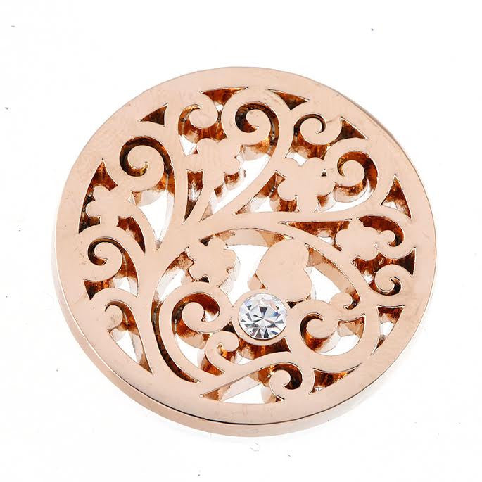 Single Diamanté and Rose Gold Disk