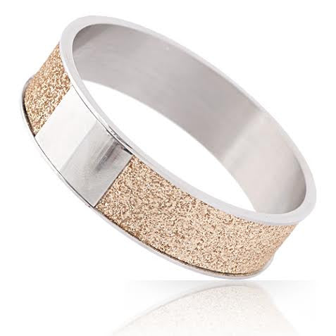 Gold Encrusted Stainless Steel Bangle