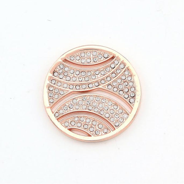 Rose Gold Plated Diamanté Disk