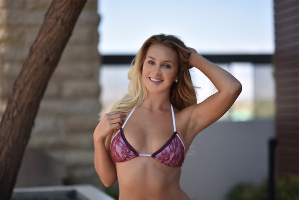 Peachy Bikini Ipanema Mini Burgundy