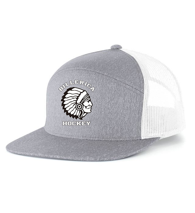 Heather 6-Panel Arch Trucker Snapback Cap
