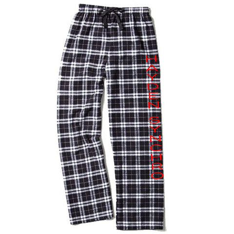 Youth and Adult Boxercraft Black and White Flannel Pant