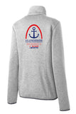 Women's  Port Authority® Sweater Fleece Jacket Grey