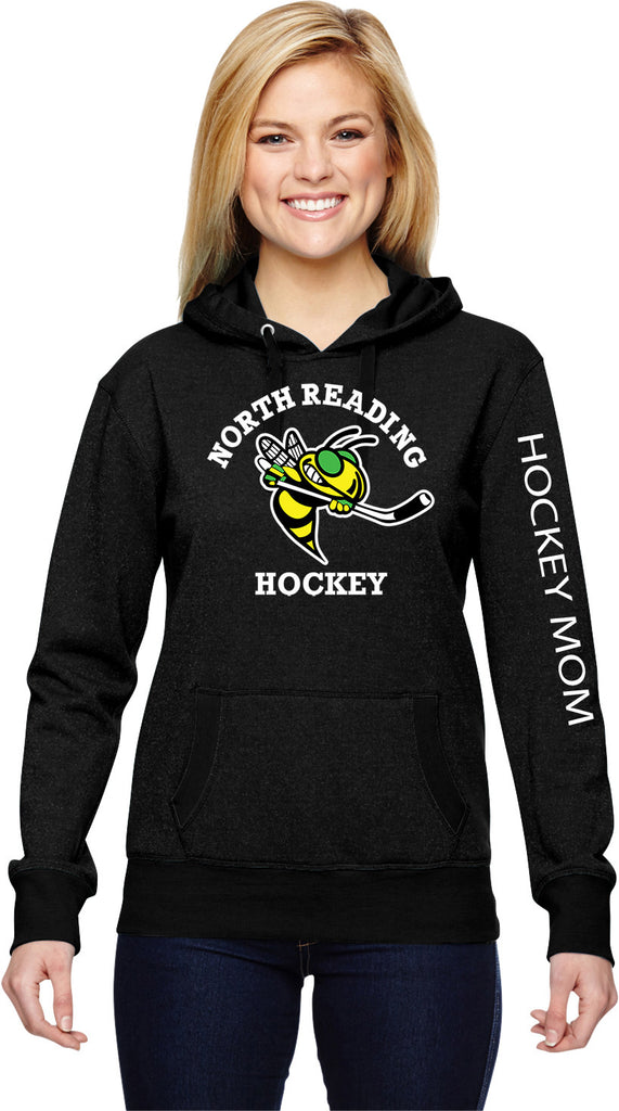 J America Glitter Hockey Mom Hoodie with Name embroidered on sleeve