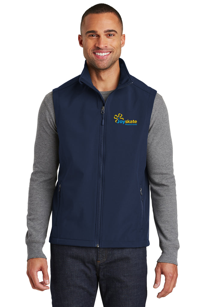 Navy Men's soft shell vest