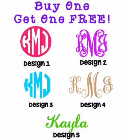 "Buy One Get One FREE!!! TWO 3"" Decals for the Price of ONE!"