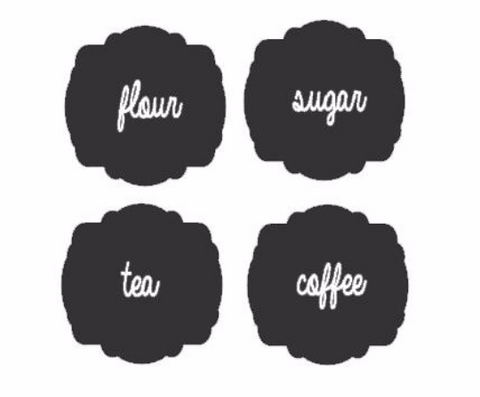 Chalkboard Labels!! Set of 10 & One Stick of Chalk! Get Organized!!