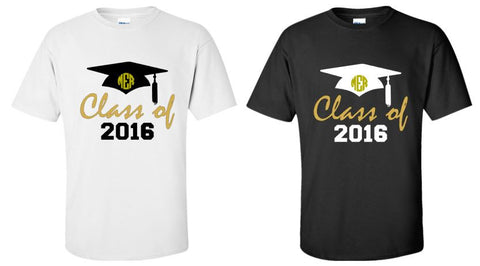 Celebrate the Graduate!! Class of 2016 Shirt with Monogram